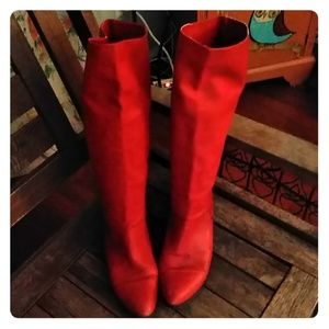 Vintage red hot boots